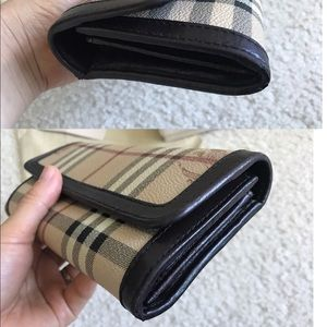 Burberry Bags - Burberry haymarket check wallet